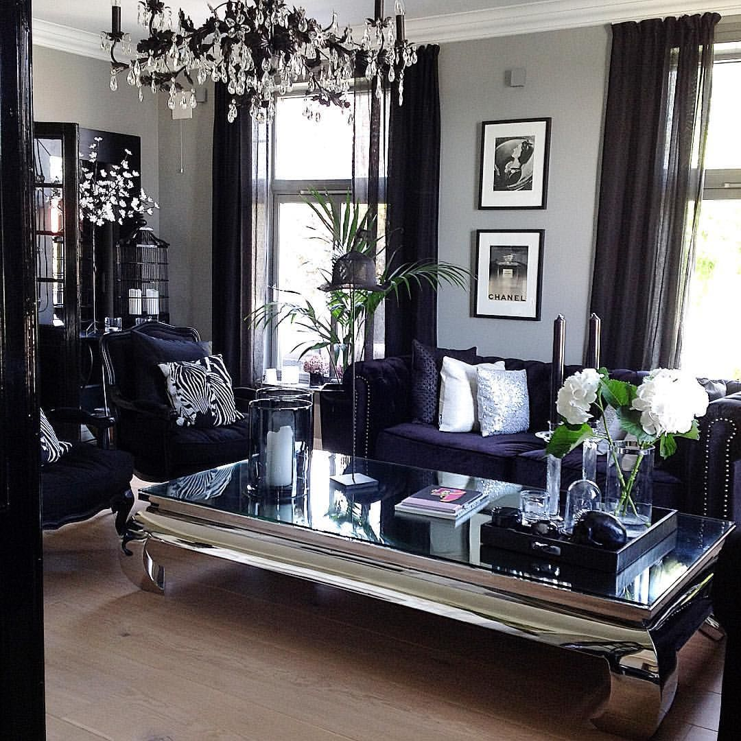 Grey Glam Living Room Ideas: Pin By GlamFashionLuxe On D E C O R