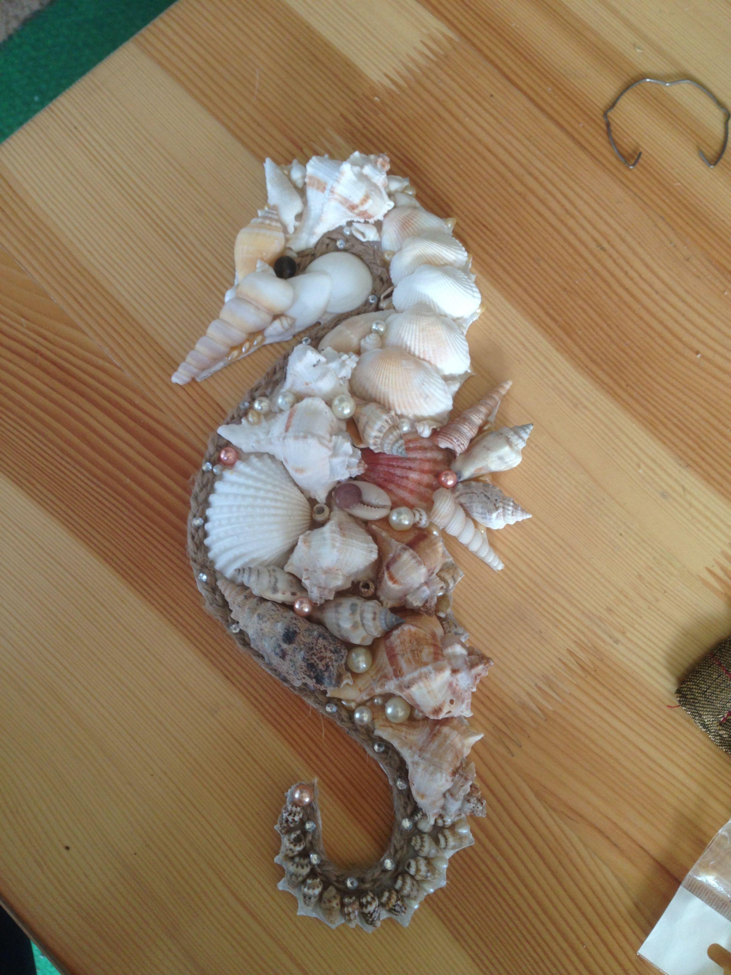 Muscheln# Seepferdchen# Badezimmer# Deko  Muschel-basteleien