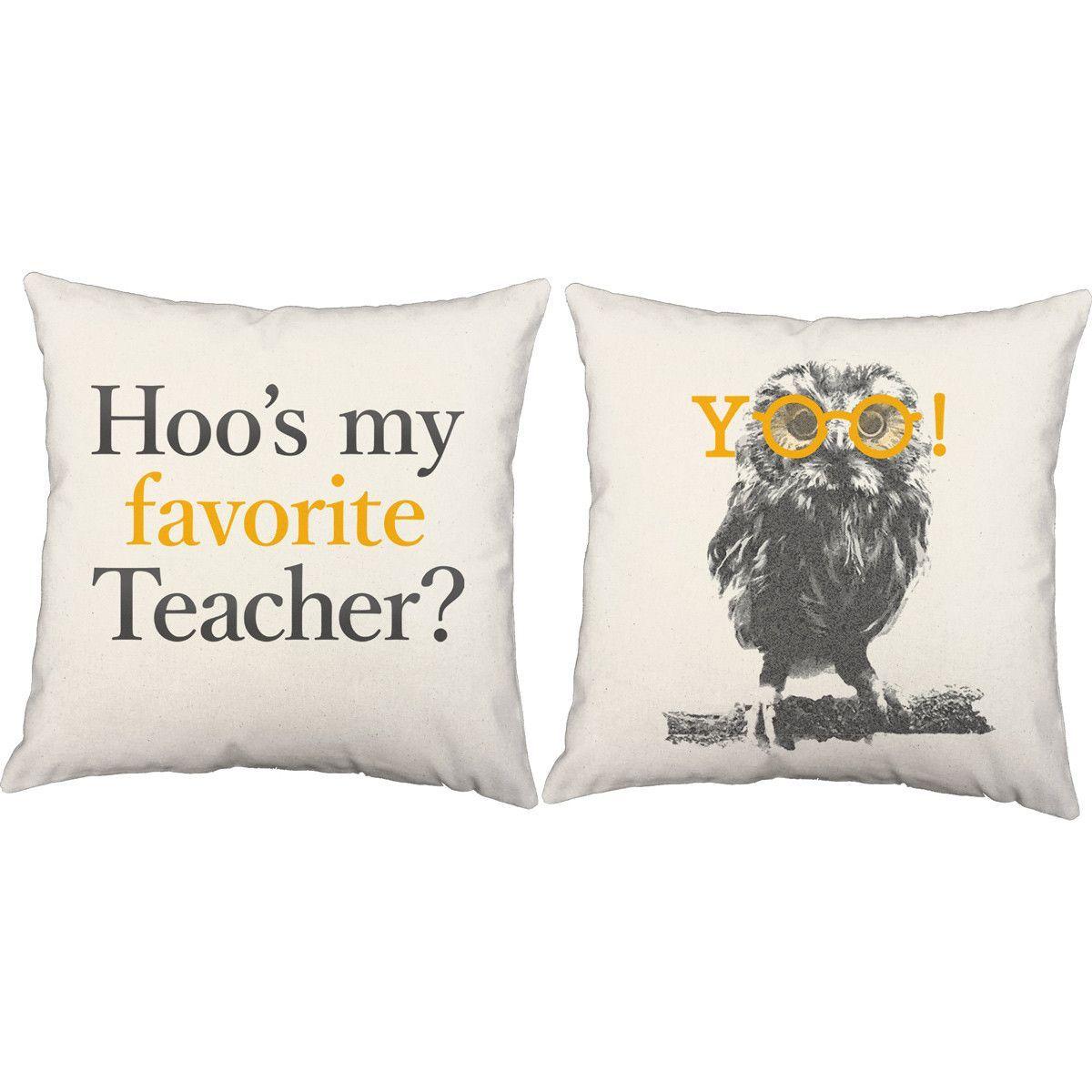 Favorite Teacher Throw Pillows - Set of 2