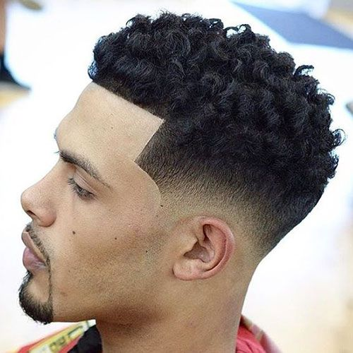 curly hair fade hairstyles