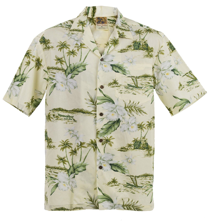 Authentic Made in Hawaii; Hawaiian Orchid Aloha Shirt; Ships Free: Amazon.de: Bekleidung