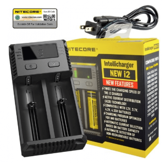 Nitecore New I2 18650 Battery Charger 18650 Battery Store Computerstabletsandaccessories Computers Computers Tablets And Accessories Smart Charger Charger