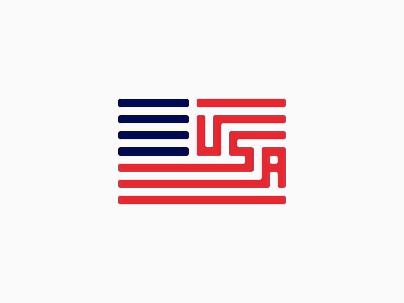 Usa Flag Flag Logo Design Creative Flag Icon