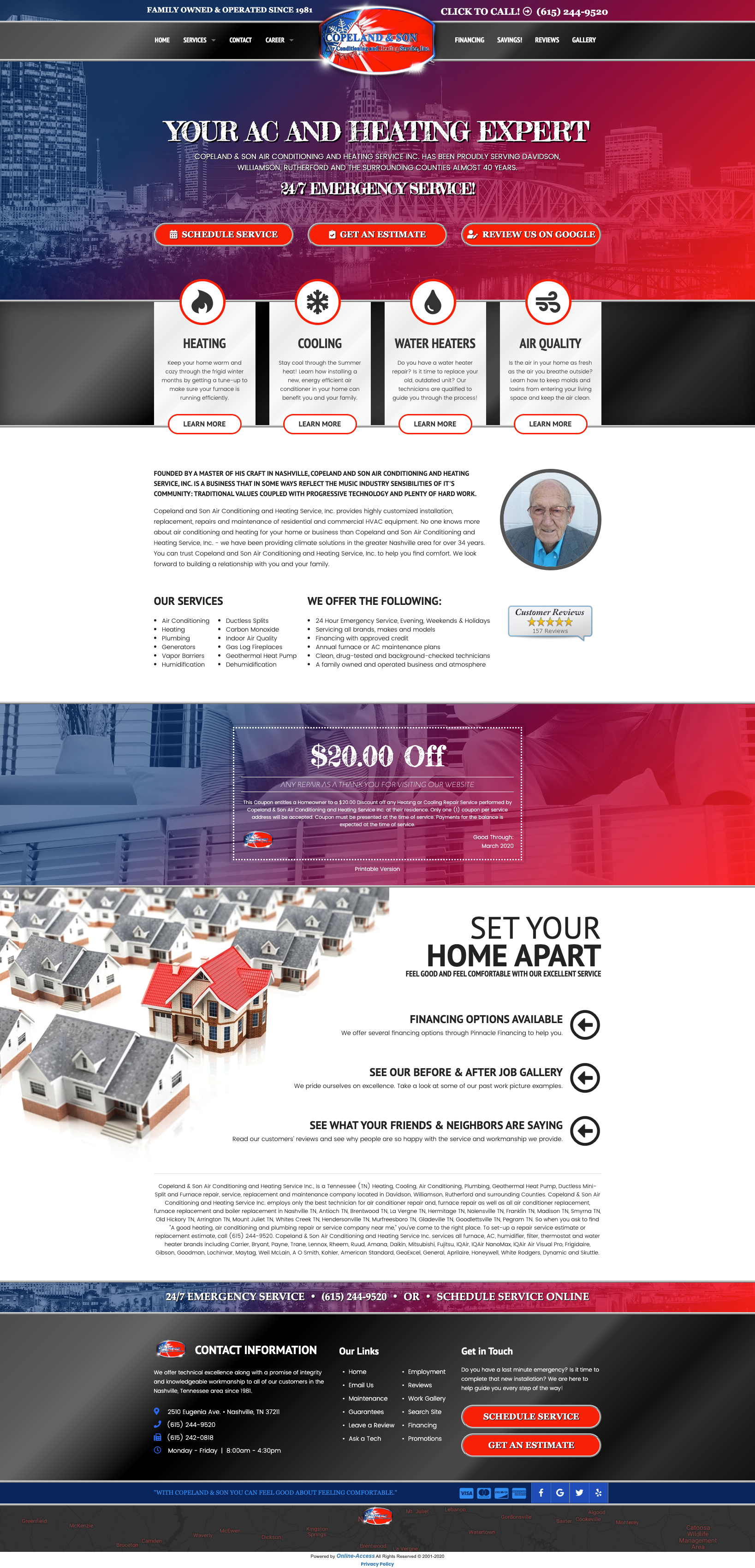 Branded Heating And Air Conditioning Website Design In 2020 With