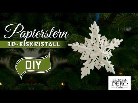Photo of Sterne basteln: 3D Eiskristall-Weihnachtsstern – How-to | Deko Kitchen