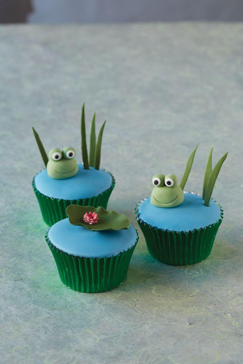 frog cupcakes cupcake ideas pinterest fondant deko weihnachtsrezepte und froschk nig. Black Bedroom Furniture Sets. Home Design Ideas