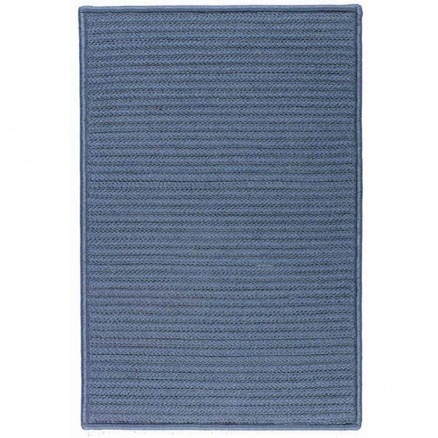 Colonial Mills Simply Home Solids Lake Blue Braided Rug H041