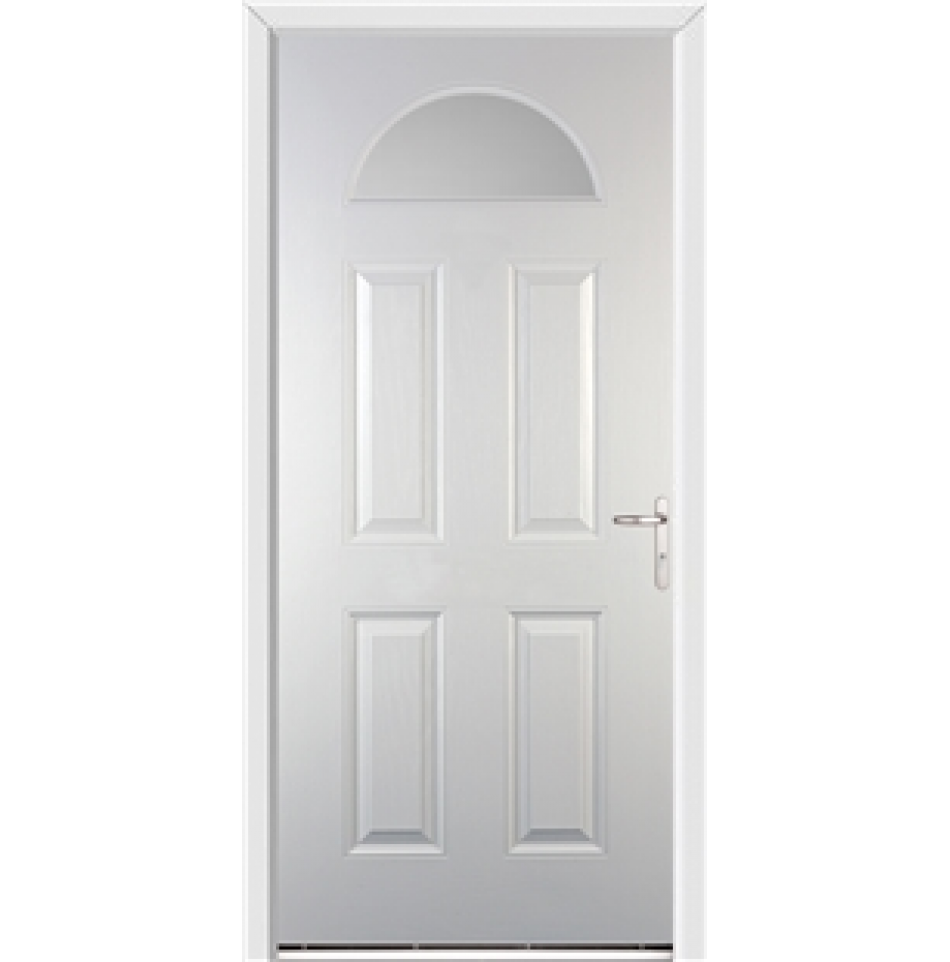 Gloucester White External Glazed Fire Doorset | EMERALD DOORS ...