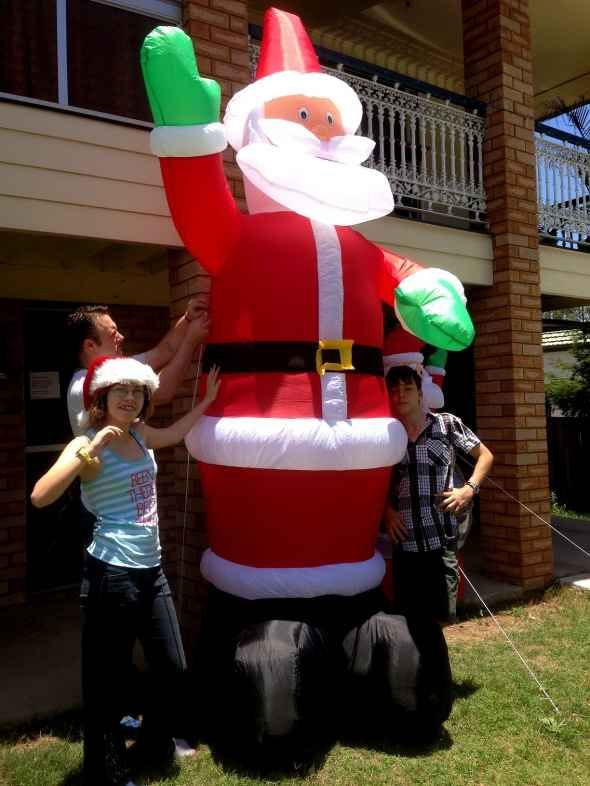 huge inflatable santa decorations with my kids santa decorationsdiy christmas decorations - Huge Inflatable Christmas Decorations