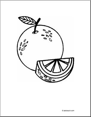 Coloring Page Oranges Black And White Coloring Page Of A Whole