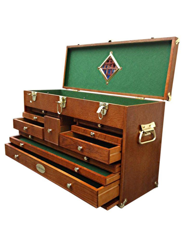 90 Us Pro Tools Wooden Top Tool Box Tool Chest Wood Cabinet Engineer