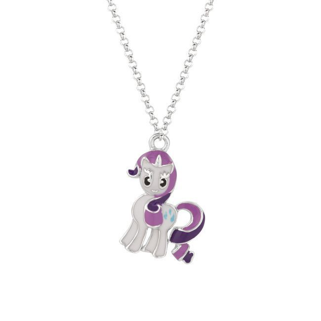 Fine silver plated rarity my little pony pendant necklace womens fine silver plated rarity my little pony pendant necklace womens size 18 inch multi rarity pony and pendants mozeypictures Images