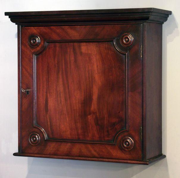 Antique mahogany wall hanging cupboard, wall hanging cabinet, antique spice  cupboard : Antique Wall - Antique Mahogany Wall Hanging Cupboard, Wall Hanging Cabinet