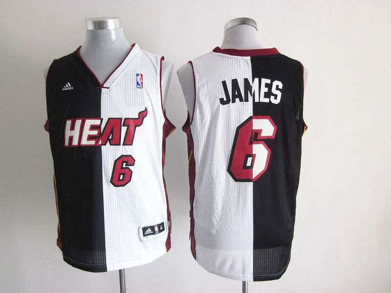 finest selection 7ec05 1e120 Adidas NBA Miami Heat 6 LeBron James Swingman Split Black ...