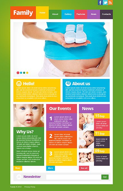 75+ Family & Baby Store Website Templates | Pinterest | Template