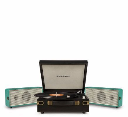 Snap Portable Turntable - Turquoise + [ Bonus Spotlight LP Included ] #shopifypicks