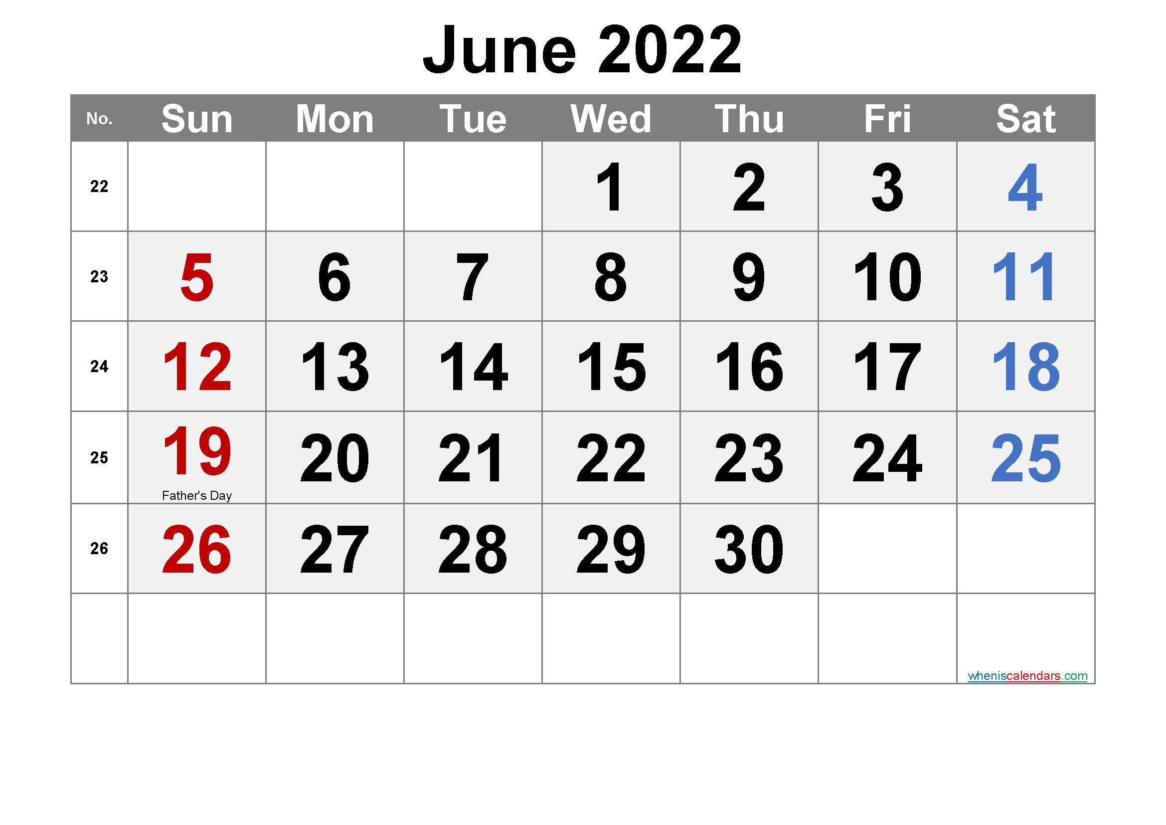 Jun 2022 Calendar.Free Printable June 2022 Calendar Pdf And Png Free Printable Calendar Printable Calendar Template Printable Calendar