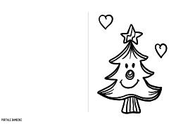 Biglietti D Auguri Di Natale Da Stampare E Colorare Gratis
