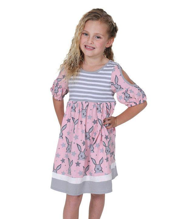 8c186a7de327 Look at this Pink   Gray Bunnies   Kitties Sydney Dress - Kids on ...