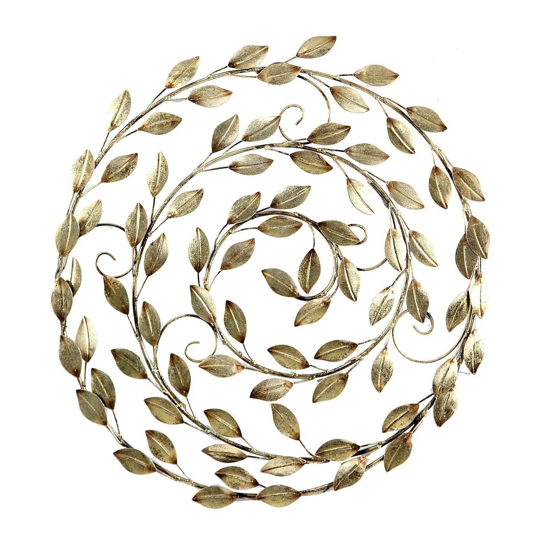 Gold spiral leaf wall art dunelm