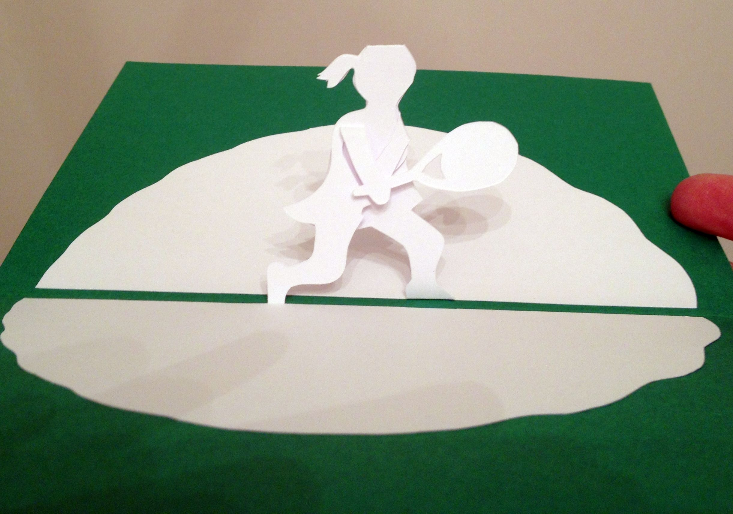 Tennis Player Pop Up Card Template From Kirgami Pop Up Architecture