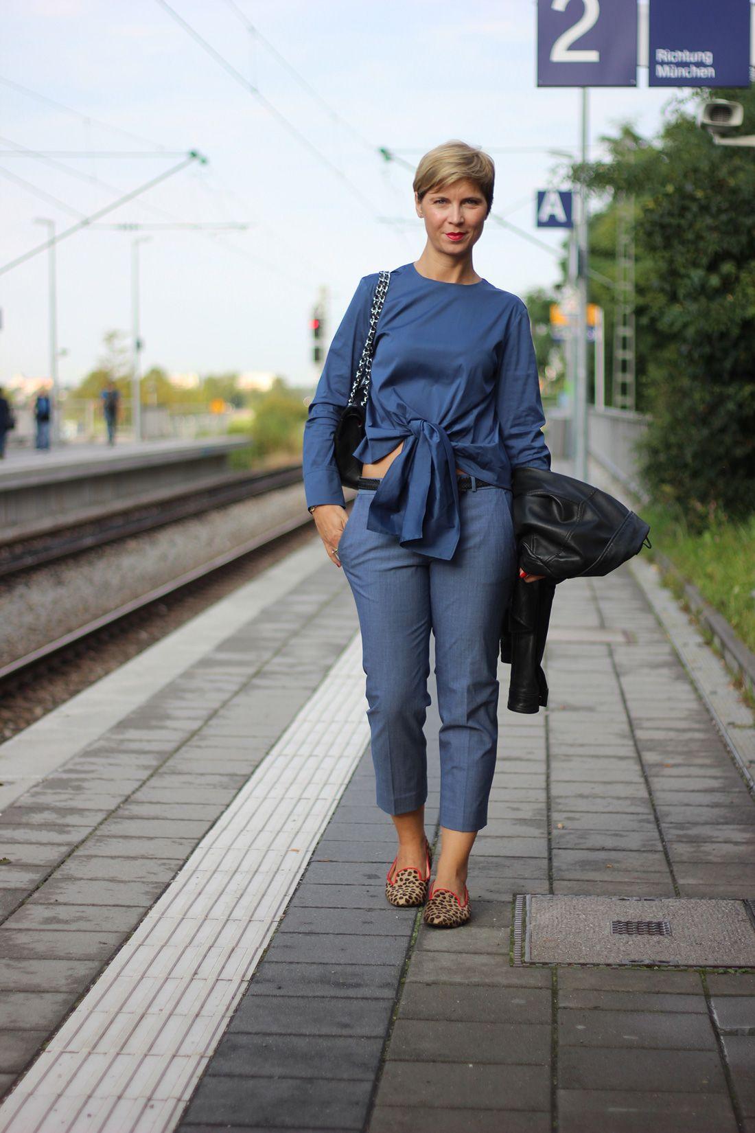 Boulangerie Bleue in München - Ein Outfit ganz in Blau ...