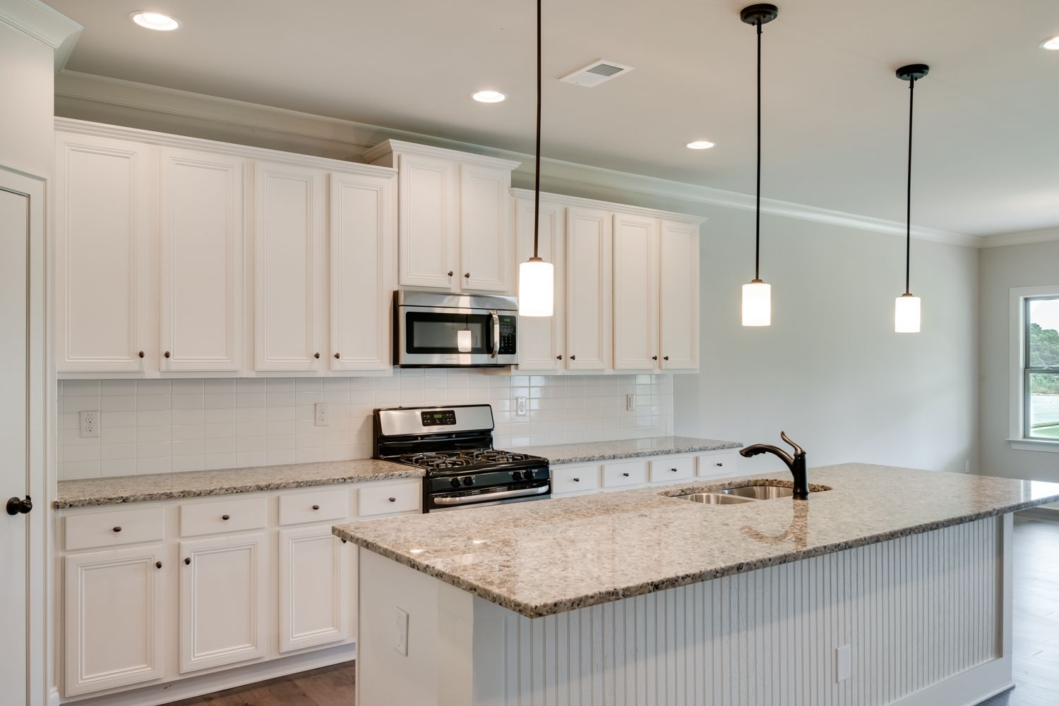 This new construction kitchen in Chattanooga in simple and ...