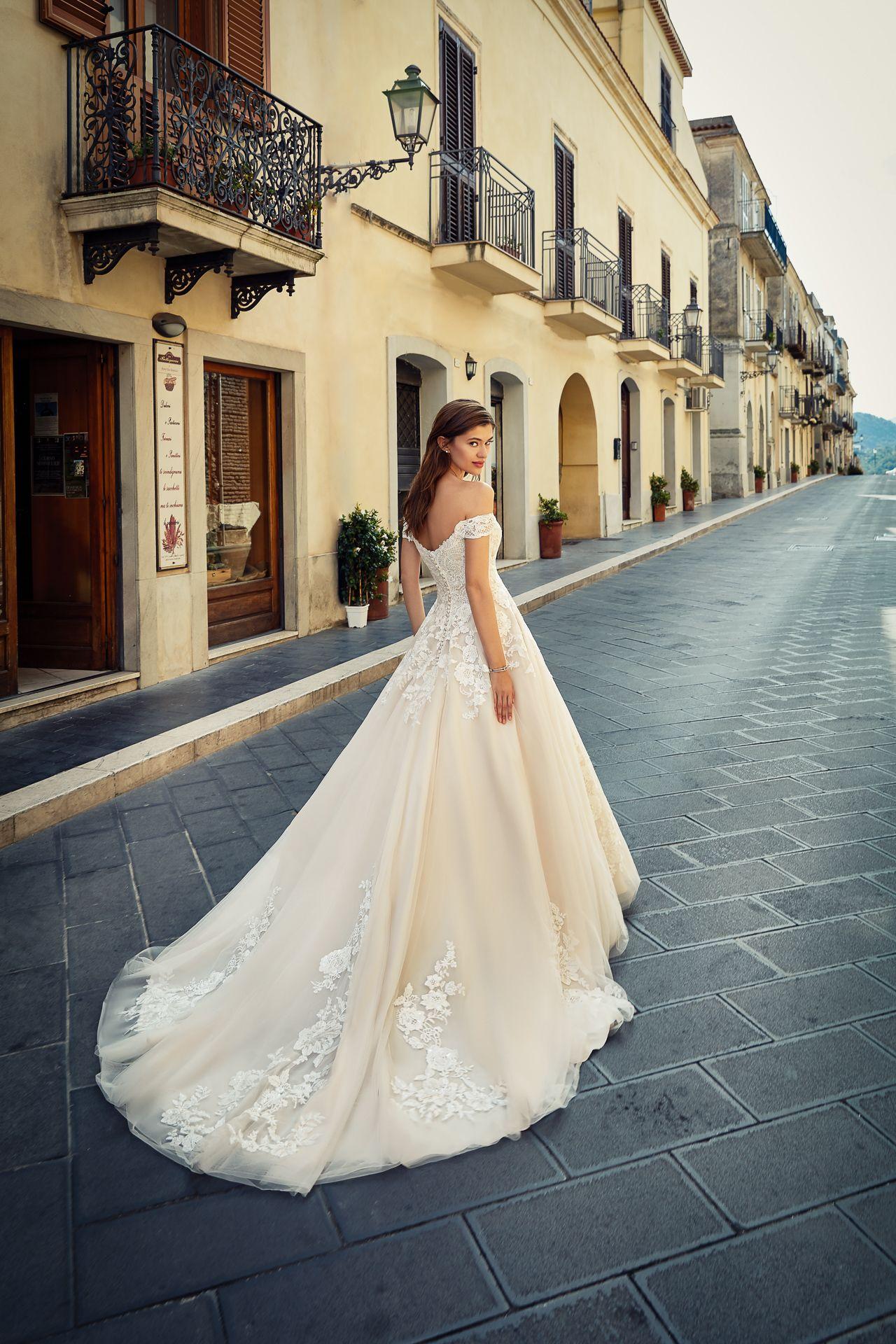 Italienisches Designerbrautkleid von Eddy K in 11  Kleid