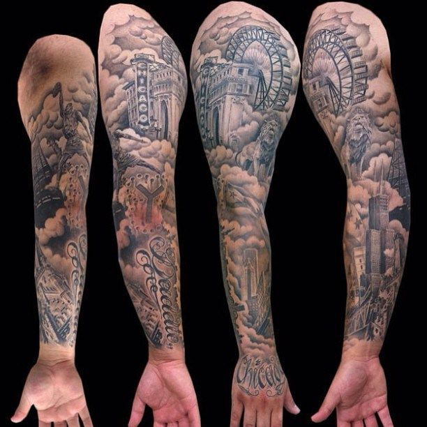 Pin By The Chicago Theatre On Tattoos Tattoos Chicago Tattoo Sleeve Tattoos