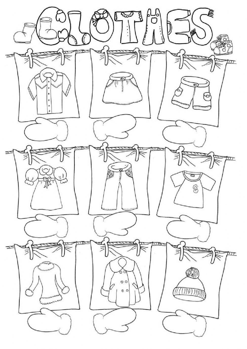 Worksheets Worksheet-about-clothes clothes interactive worksheet pinterest worksheets worksheet