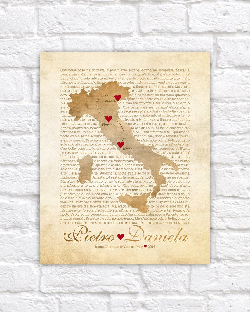 Italy Map Wedding Engagement In Italy Florence Rome