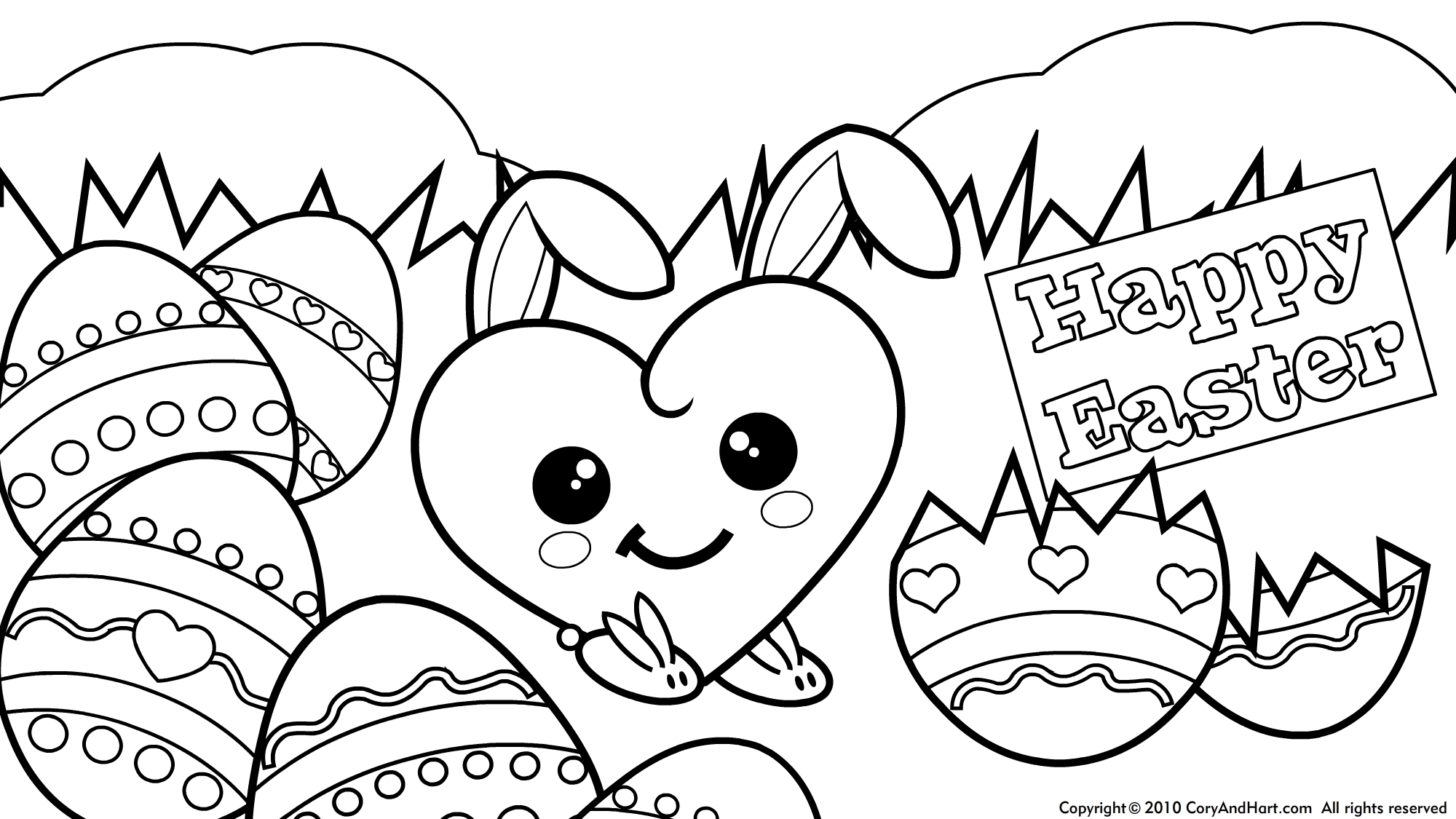 Easter Coloring Pages Easter eggs coloring pages A