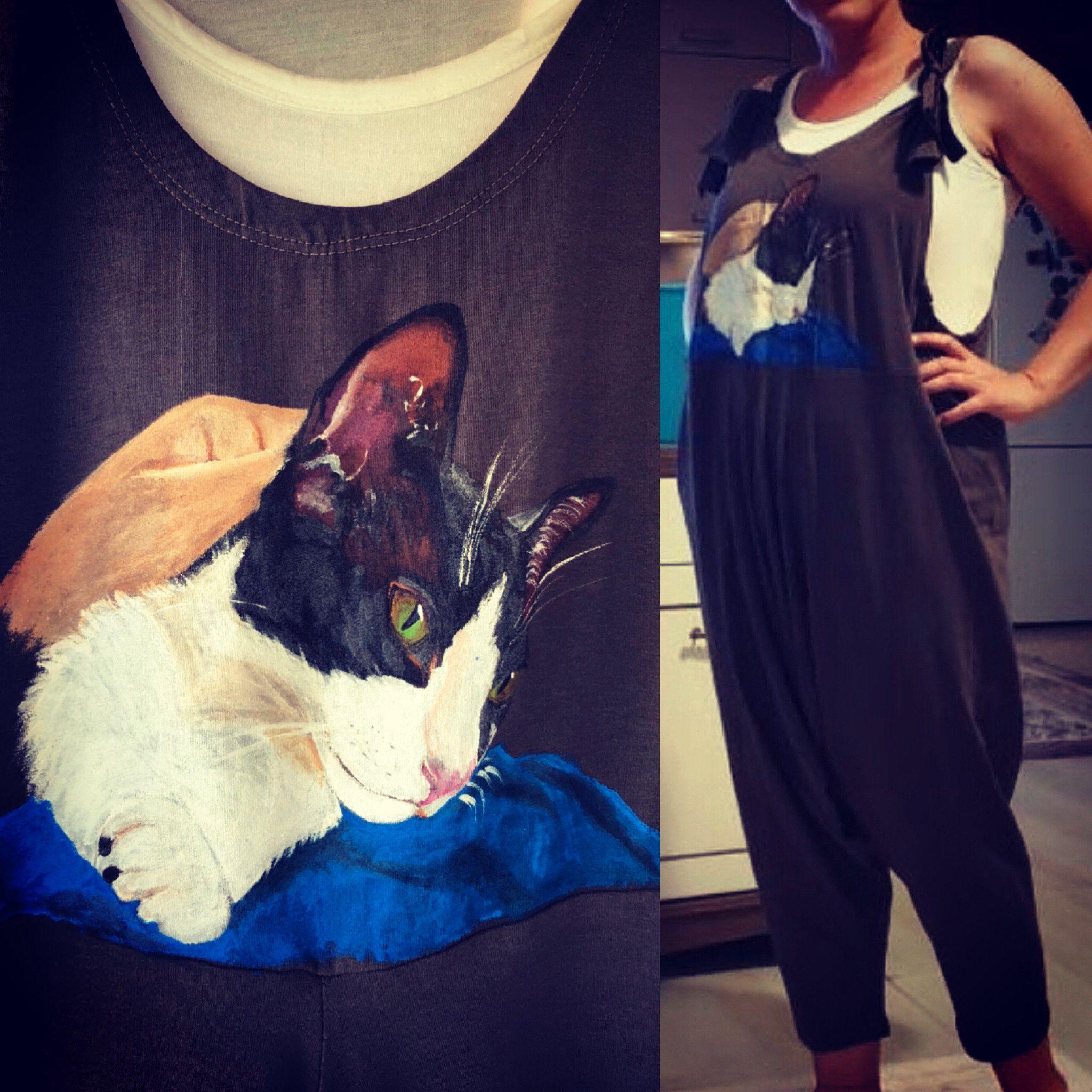 Handmade Painting Cotton Jumpsuit For Women Jumsuit Female Etsy In 2020 Cotton Jumpsuit Beautiful Jumpsuits Loose Trousers