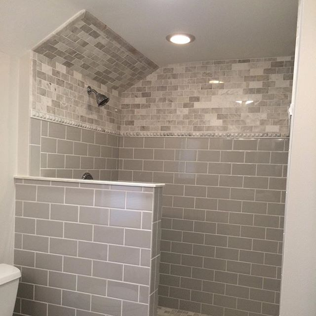 Master Bathroom In Naperville Il By Marvel Interior Construction
