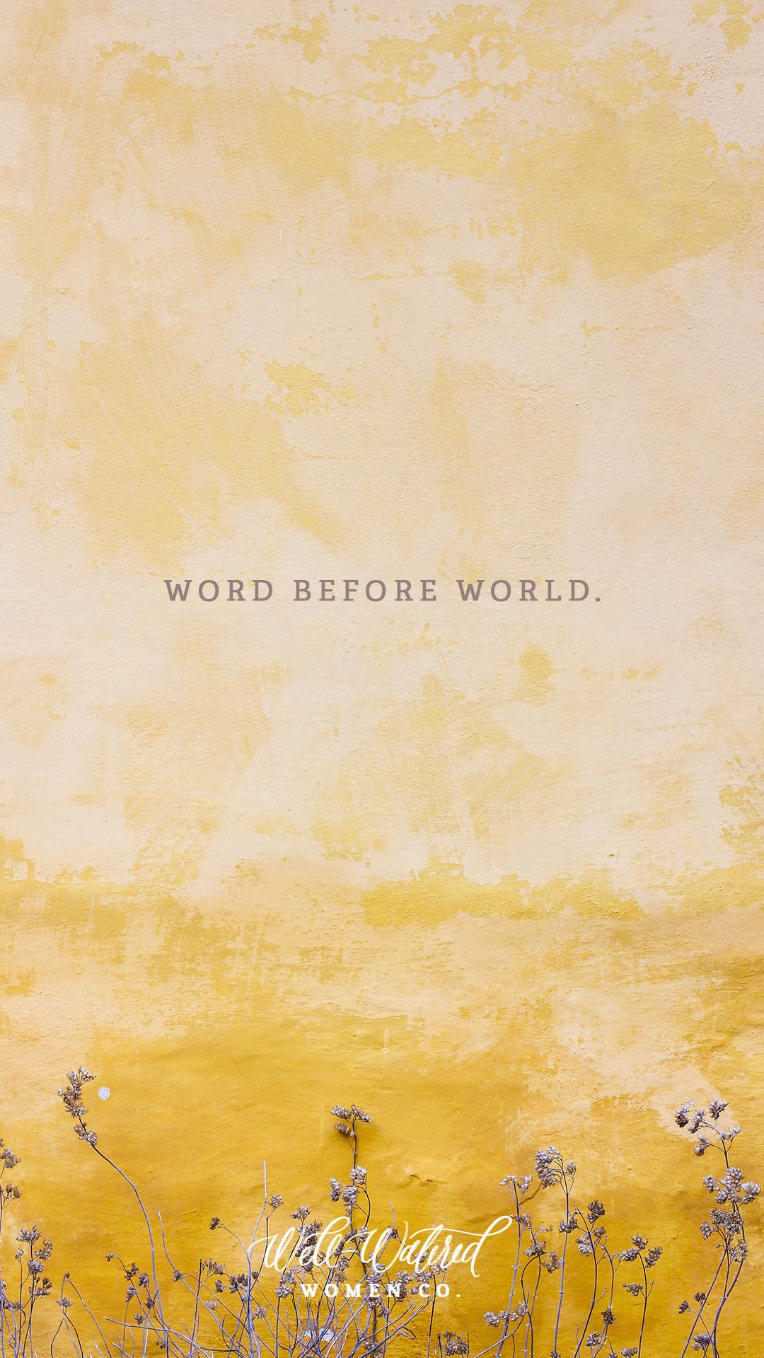 Word Before World - iPhone lock screen by Well-Watered ...