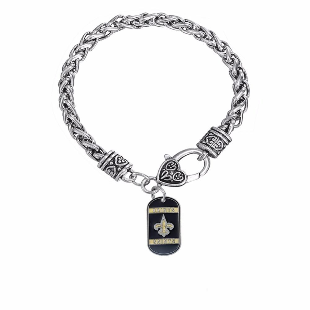 New orleans saints dog tag pendant bracelet best funny store new new orleans saints dog tag pendant bracelet best funny store aloadofball Images