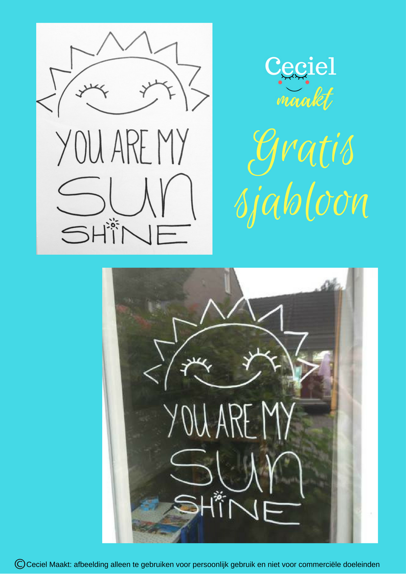 Sjabloon Letters Groot You Are My Sunshine Quote Sjabloon Freebie Zomer Gratis