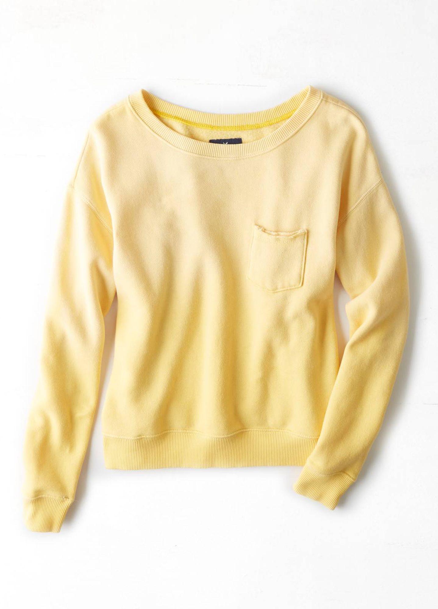 [Women] intl wash crew with pocket sweater   상품상세   SK FASHION MALL