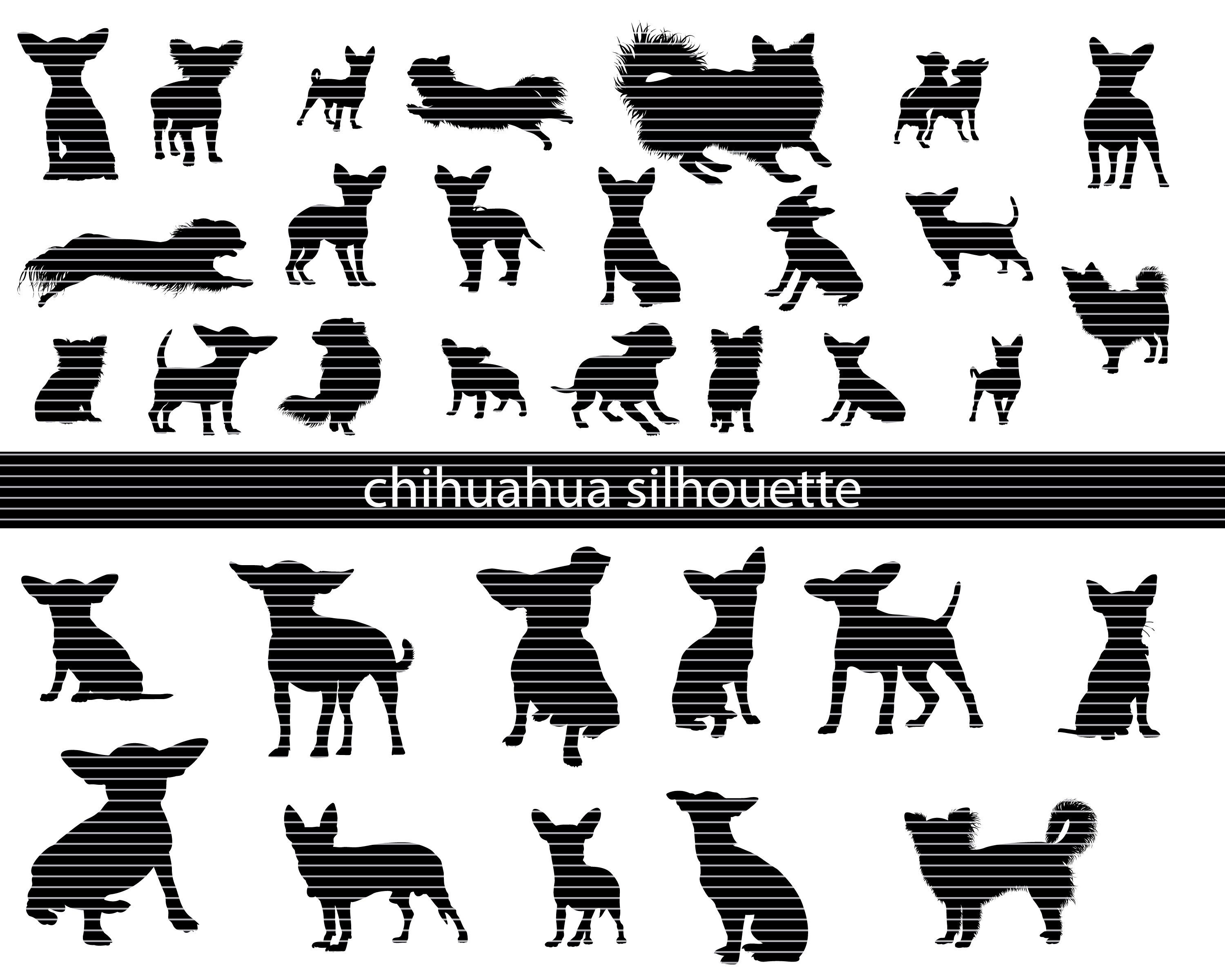 Chihuahua silhouette Svg Bundle in 2020 Silhouette svg