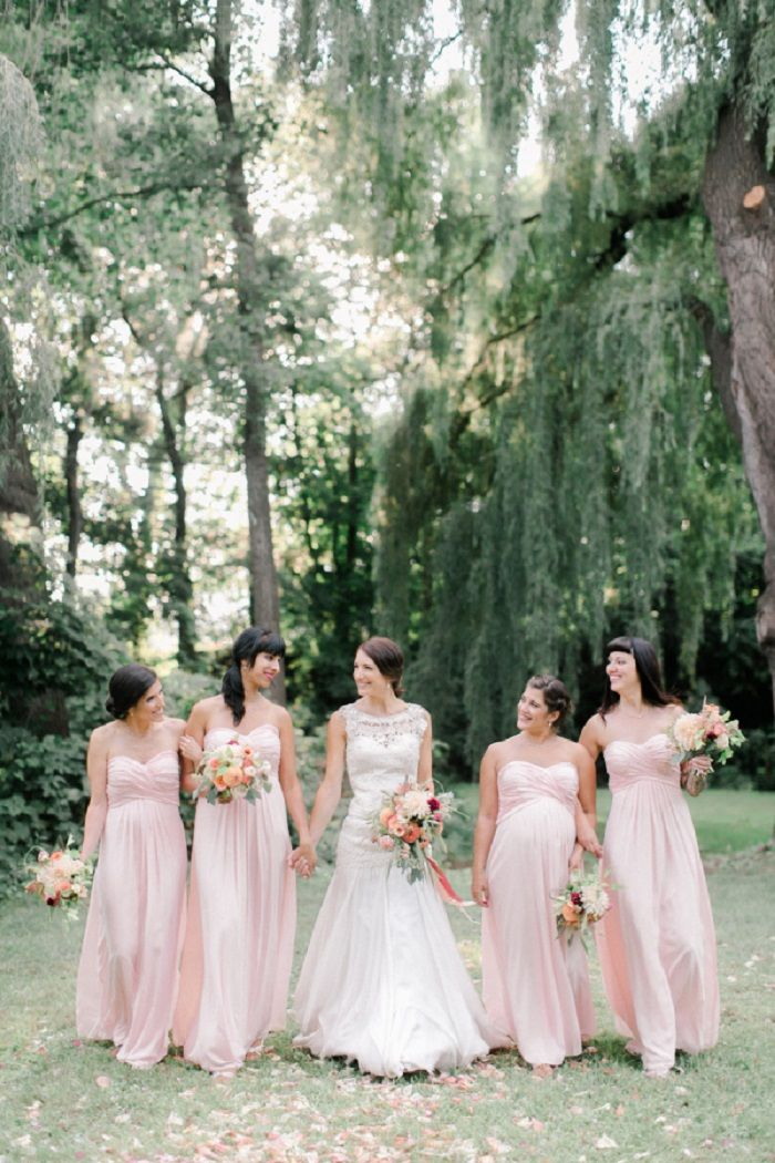 Blush bridesmaid dress | fabmood.com #weddinginspiration #blush #blushbridesmaiddresses