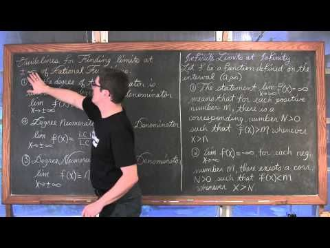 Limits at Infinity Rational, Irrational, and Trig Functions