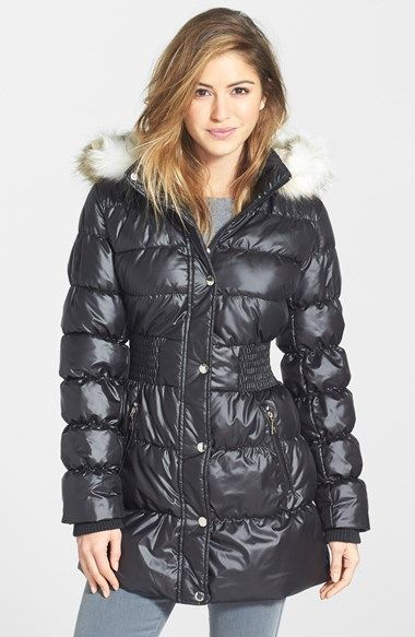 Laundry By Design Faux Fur Trim Hooded Quilted Coat Quilted Coat Puffer Jacket Women Quilted Outerwear