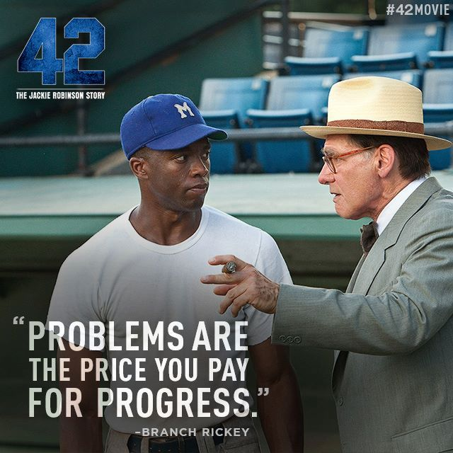 an analysis of the movie jackie robinson story The movie 42 opens this weekend, a hollywood biopic celebrating jackie robinson's role as the first black player in the modern era of major league base.