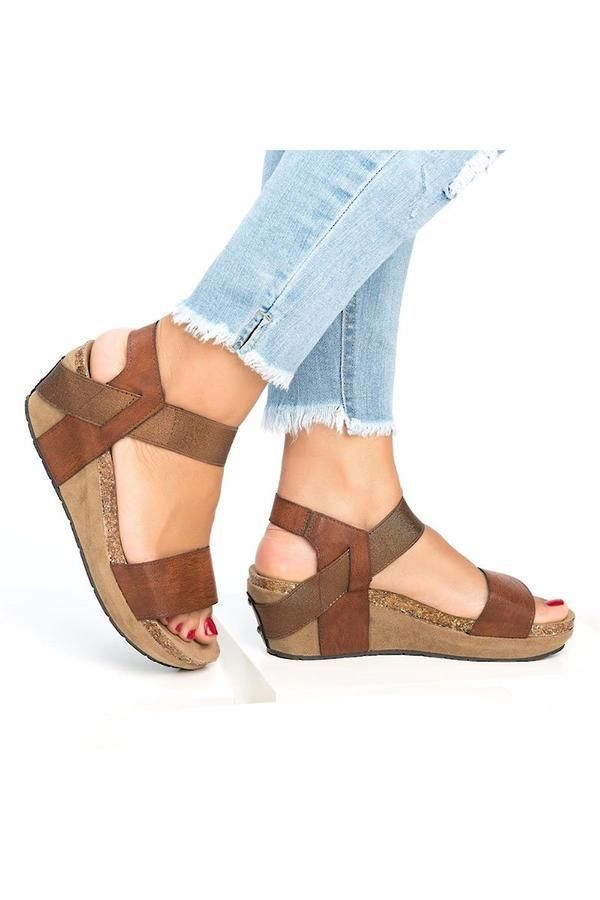 Slip On Double Band Wedge Sandals #lowwedgesandals These wedge sandals feature double band and slip-on style which make them easy to wear on and off. The low wedge design keeps you comfortable while wearing these sandals all day. #lowwedgesandals Slip On Double Band Wedge Sandals #lowwedgesandals These wedge sandals feature double band and slip-on style which make them easy to wear on and off. The low wedge design keeps you comfortable while wearing these sandals all day. #lowwedgesandals Slip O #lowwedgesandals