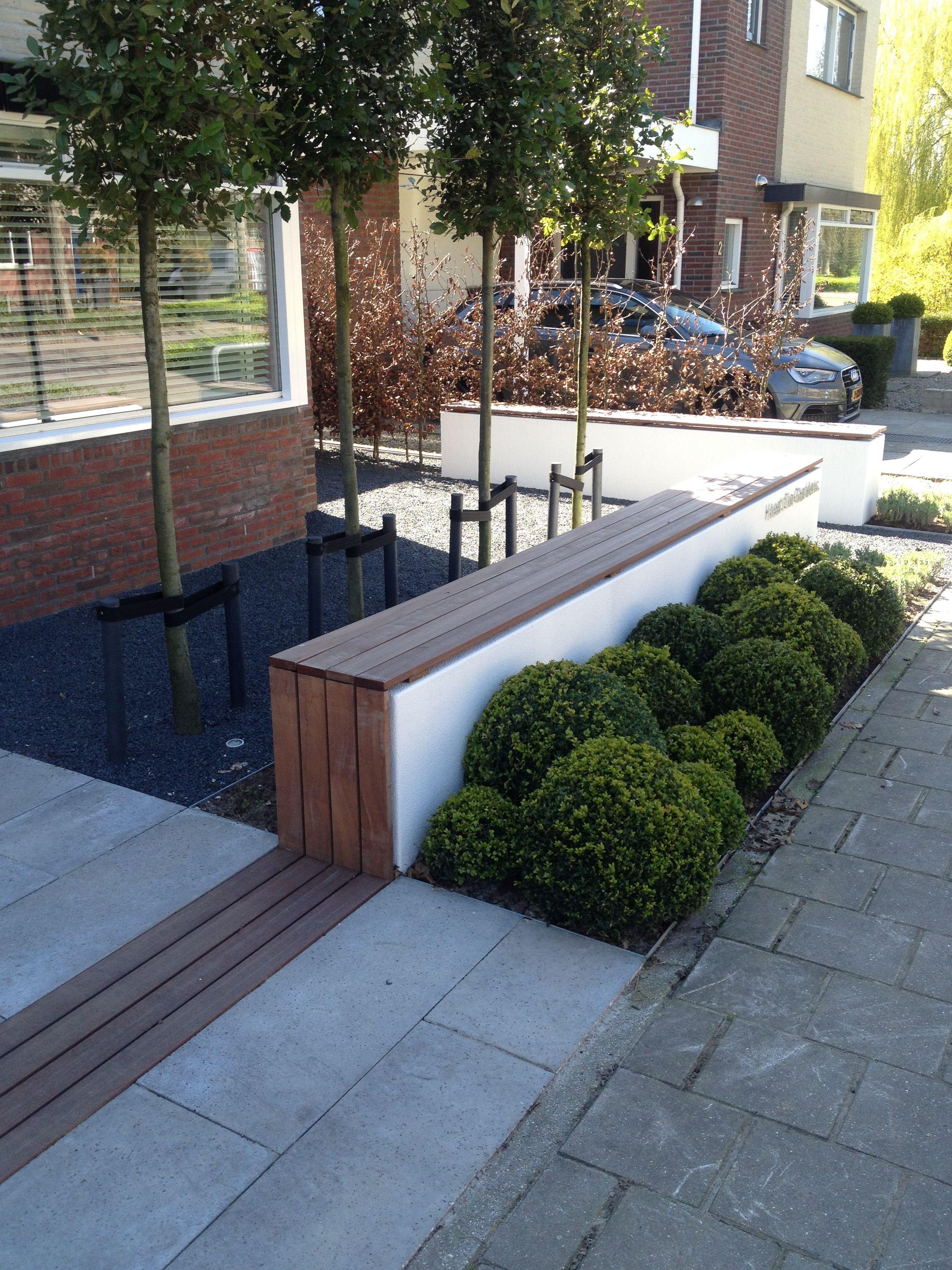 #strakke #moderne #voortuin Pflastersteine, Moderner Garten, Einfahrt,  Landschaftsbau, Haus