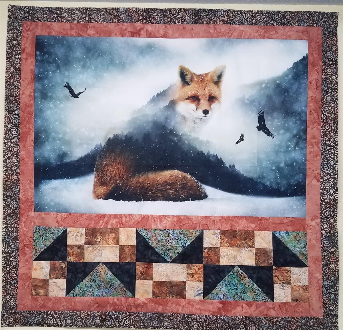 Beautiful quilt featuring a Hoffman Fabrics digital print   Free ... : beautiful quilt fabrics - Adamdwight.com