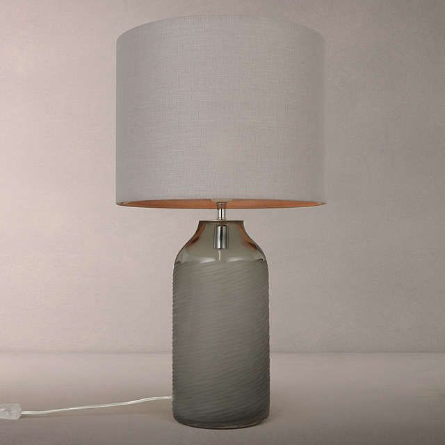 john lewis brea scratched glass table lamp grey glass table lamps
