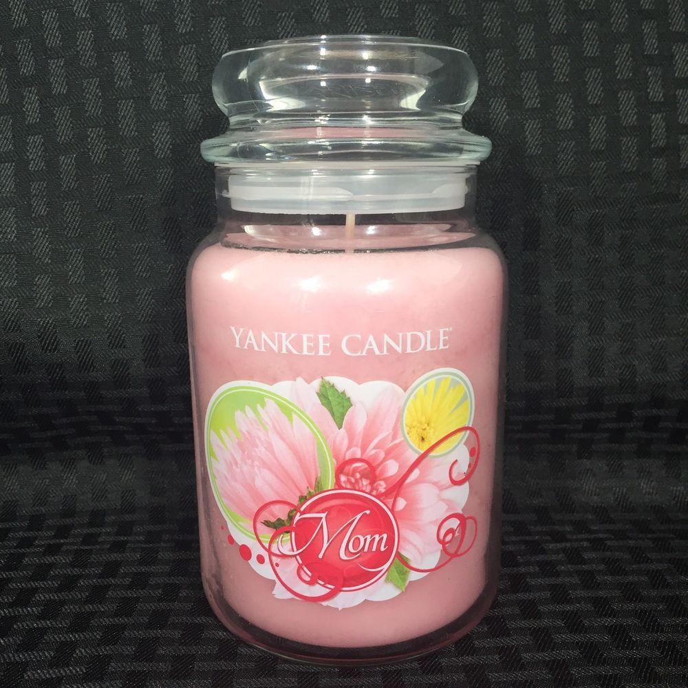 Yankee candle mom large jar retired unburned pink floral scent