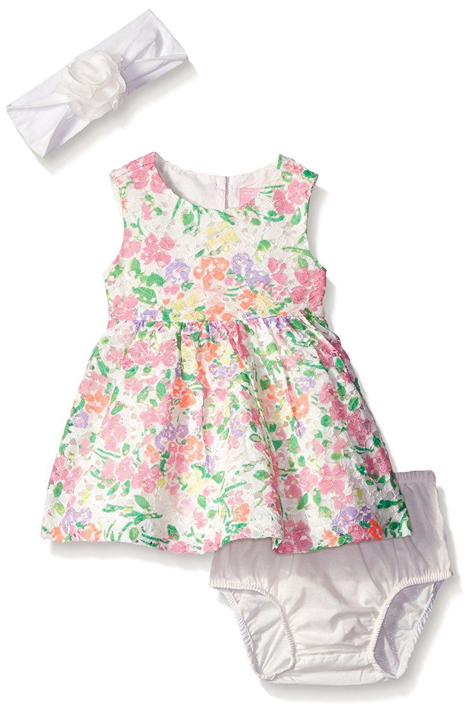 Girls Dress Summer Yellow Sleeveless Bow Waist Lace Newborn Baby to 24 Months