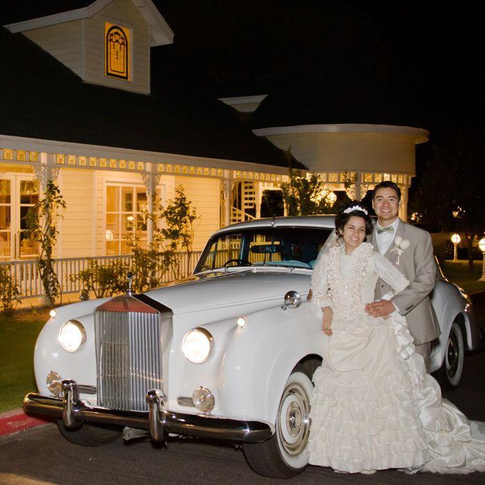 Wedding Exit In A Bentley Vintage Car Rental Victorian Romantic Arizona Venue